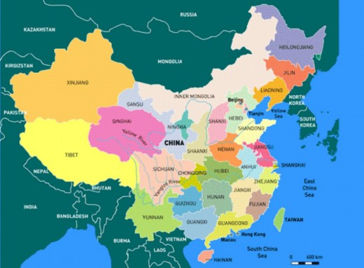 MAP OF CHINA (Photo courtesy of http://library.thinkquest.org/)