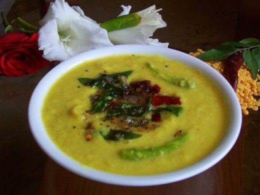 Parripu curry (red lentils curry)