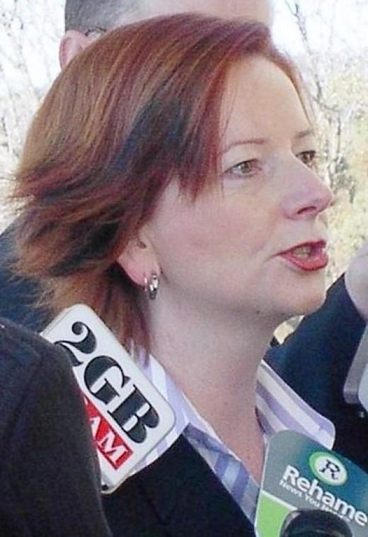 Julia Gillard, first female Prime Minister of Australia.  (Public Domain)