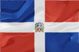Real Dominican flag