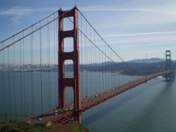 Probably the most famous landmark along the California coast - the Golden Gate Bridge.