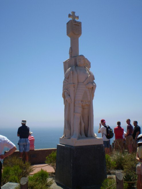 The memorial to Cabrillo at Cabrillo National Monument, San Diego.