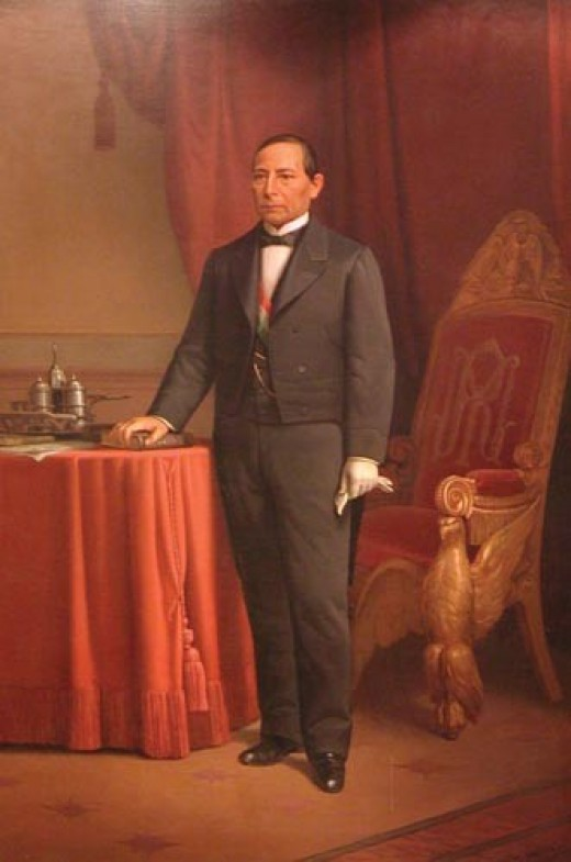 """Benito Juarez--Called the """"Abraham Lincoln of Mexico"""" for his leadership of the constitutionalists"""