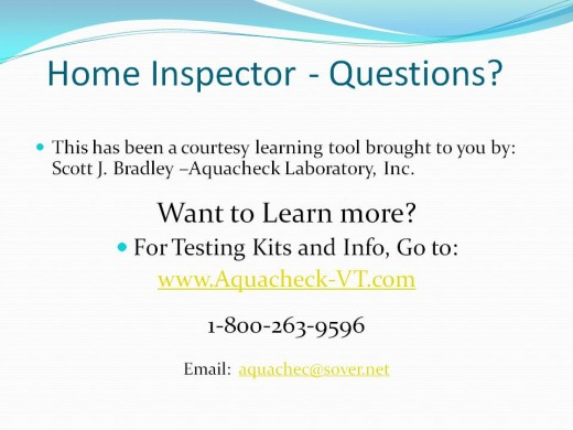 More information and water testing kits online.