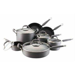 KitchenAid Gourmet Essentials 12-Piece Nonstick Hard-Anodized Cookware Set