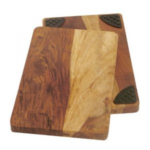 Architec Gripperwood 10-by-15-Inch Gourmet Sheesham Cutting Board