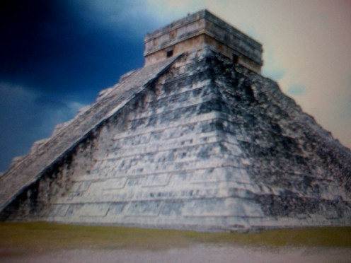 Aztec temple in modern Mexico