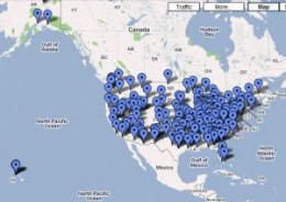 Google map of FEMA camps in the U.S.