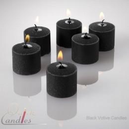 Black votive candles