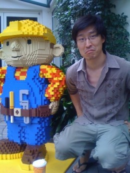 I personally promise to squat next to this Lego-handyman unless you take your kids to Legoland California right away. Please take them soon because I will be unable to maintain this position for long and I need to use the restroom urgently.