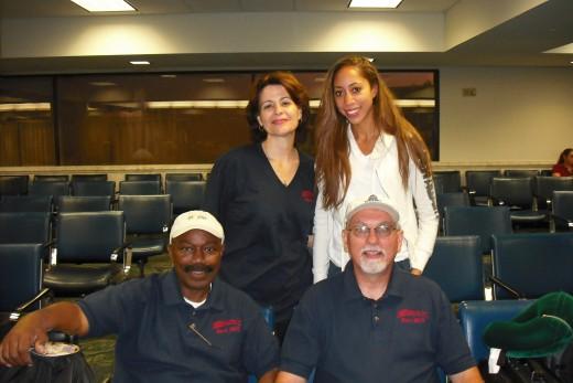 The JARON / West Fresno Ministerial Association Haiti 2010 Team from top left: Melinda Bogart, Amber Balakian, Edward Lee and Michael Bogart