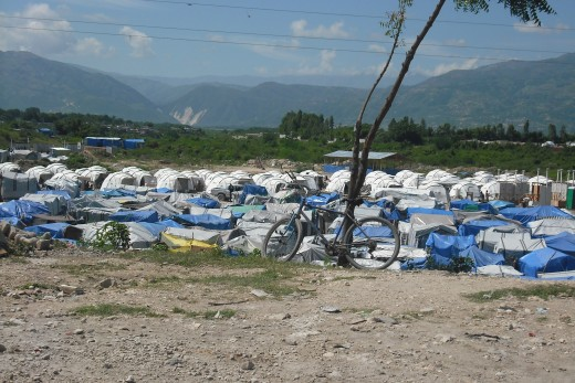One of many tent cities