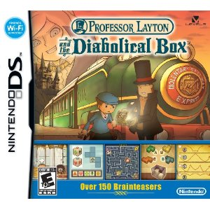 Professor Layton and the Diabolical Box puzzle DSi game