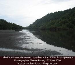 Lake Kabori near Manokwari city of West Papua Province, the Republic of Indonesia