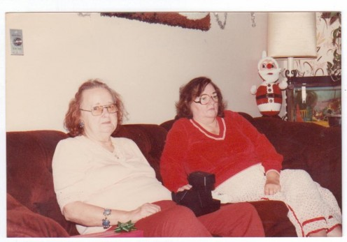 Here's Mom and Grandma. Grandma found Christ at this age. Mom? Found a reason to judge others. Photo by HubCrafter.