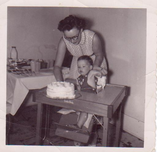"Righteousness is a gift from God. I didn't ""earn"" being two years old. But I got cake! Photo by HubCrafter."