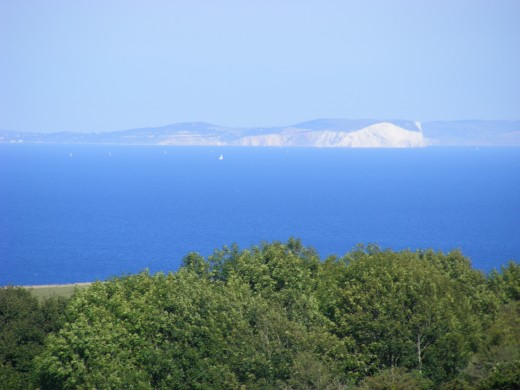 You can see the Isle of Wight from here.