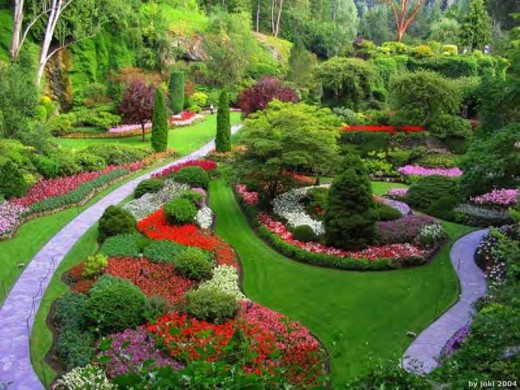 A landscaped garden can take a lot of effort to set up and on-going maintenance.  However, the work can produce something magnificent!