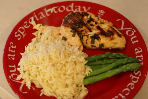 Lemon & Sage Chicken (with orzo and asparagus)