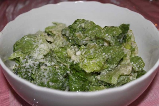 Classic Caesar salad - Sorry I didn't have any croutons for the photo.