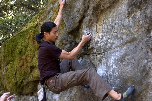 Rock climbing at Yosemite.