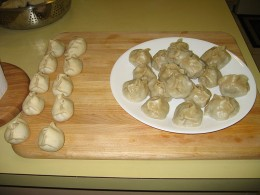 buuz, dumplings -- steamed and with ingredients usually salted with garlic image courtesy of wikipedia