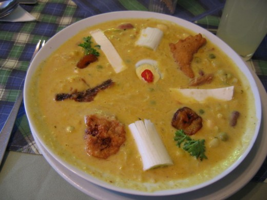 FANESCA of ECUADOR...A VERY POPULAR SEAFOOD or FISH SOUP
