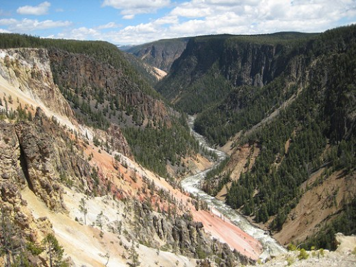 Grand Canyon of the Yellowstone National Park.