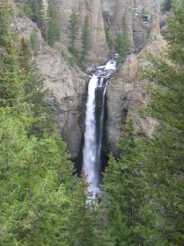 Tower Falls in the Yellowstone.