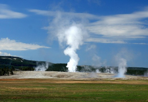 Geysers at Yellowstone.