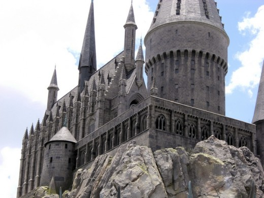 Hogwarts castle which houses Harry Potter and the Forbidden Journey ride