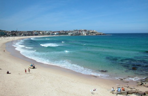 Bondi Beach - It's crowded and there are British people everywhere.
