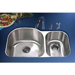 Lesscare Sink - Kitchen Stainless Steel Undermount Sink L-201R