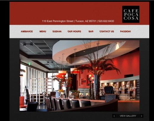 Cafe Poca Cosa Website