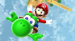 Mario and Yoshi in Super Mario Galaxy 2