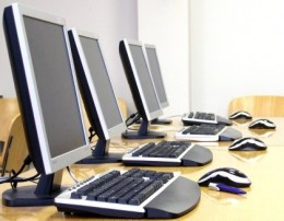 Networked computers in the office