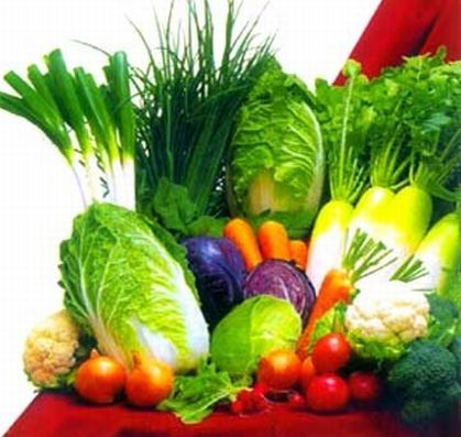 Green and coloured veggies