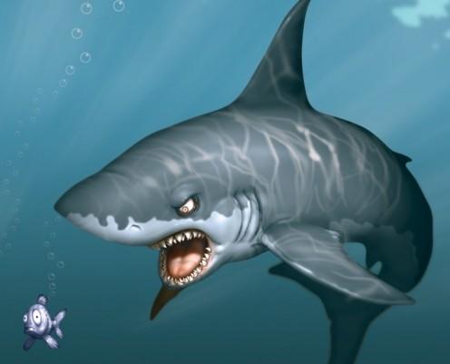 It's aa...aa... SHARK... No it's only sis