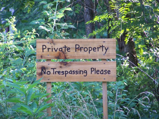 just a polite warning on a corner property