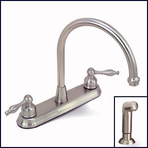 Brushed Nickel Kitchen Faucet with Sprayer