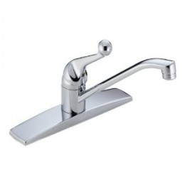 Delta Faucet 100-WF Classic Single-Handle Centerset Kitchen Faucet, Chrome