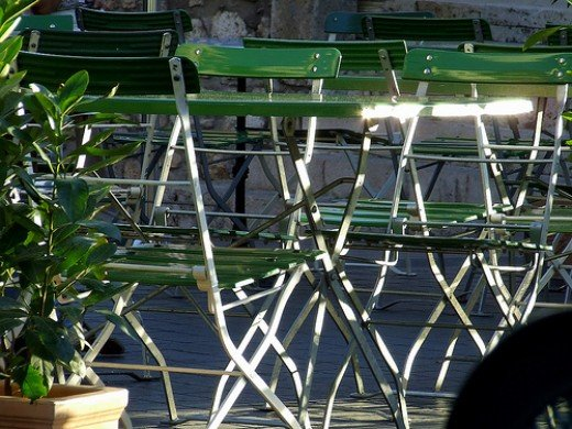 Outdoor Aluminium chairs.