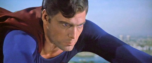 The Evil Superman in flight (Superman III).