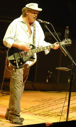 Neil Young at a Crosby, Stills, Nash and Young gig in Ottawa, July 2006. Photo by Adrian M. Buss