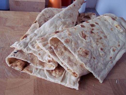 NAAN or AFGHAN HOMEMADE FLATBREAD