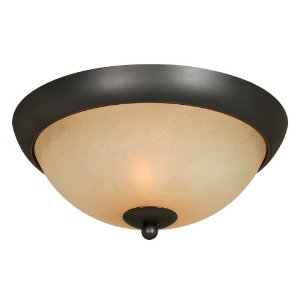 Hardware House 543744 Berkshire 12-Inch by 5-1/2-Inch Ceiling Lighting Fixture Oil-Rubbed Bronze