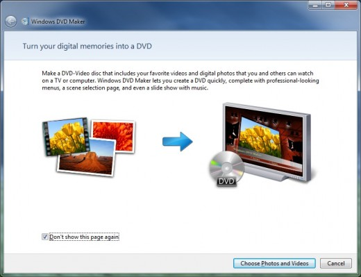 Windows 7 DVD Maker