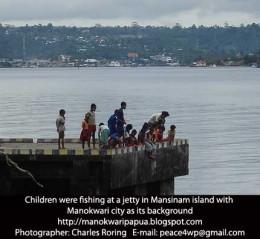 Manokwari city as seen from Mansinam island