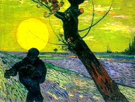Famous paintings from Vincent Van Gogh and Claude Monet.