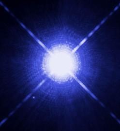 The Star Sirius A and its faint white dwarf companion, Sirius B